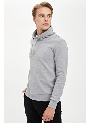 DeFacto Şal Yaka Regular Fit Sweatshirt